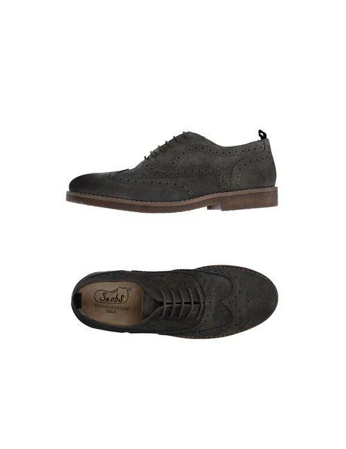 Snobs   Мужская Серая Обувь На Шнурках
