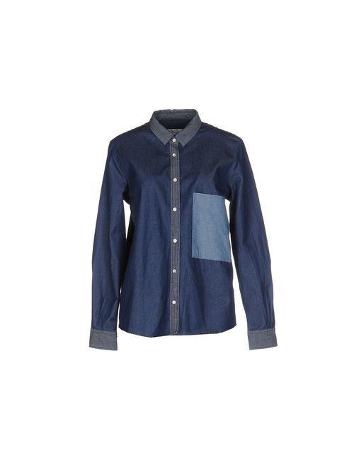 Golden Goose   Мужская Синяя Джинсовая Рубашка
