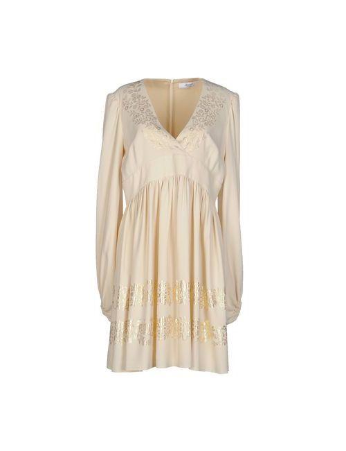 Blugirl Blumarine   Женское Слоновая Костящее Короткое Платье