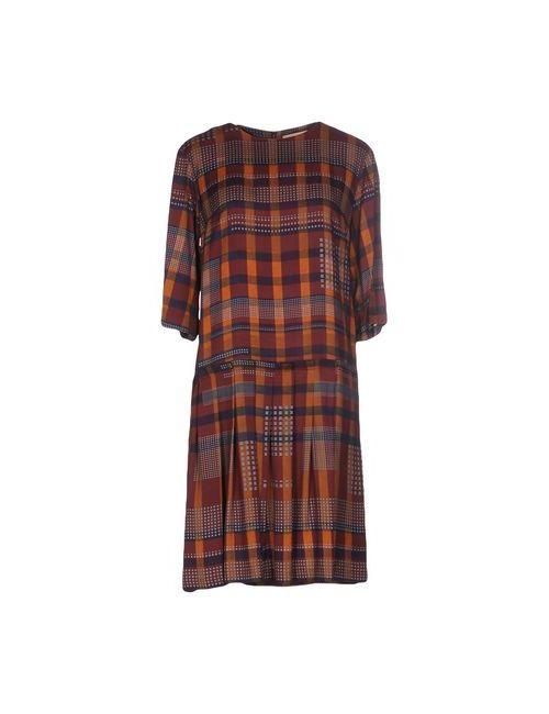 MARCHÉ_21 | Женское Коричневое Короткое Платье