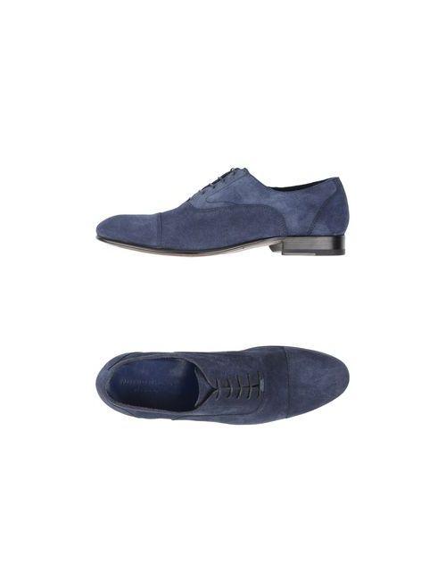 Alberto Guardiani | Мужская Синяя Обувь На Шнурках