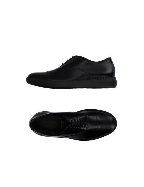 Emporio Armani   Мужская Чёрная Обувь На Шнурках