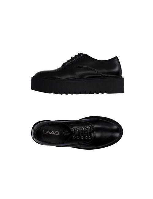 LAAB   Мужская Чёрная Обувь На Шнурках