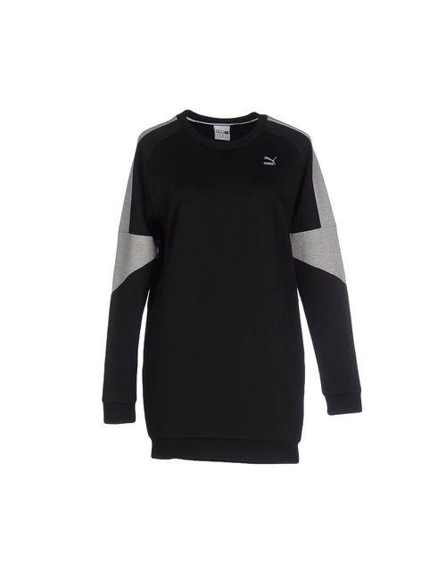 Puma | Женское Чёрное Короткое Платье