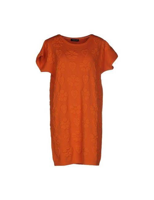 Twin-Set Simona Barbieri | Женское Оранжевое Короткое Платье