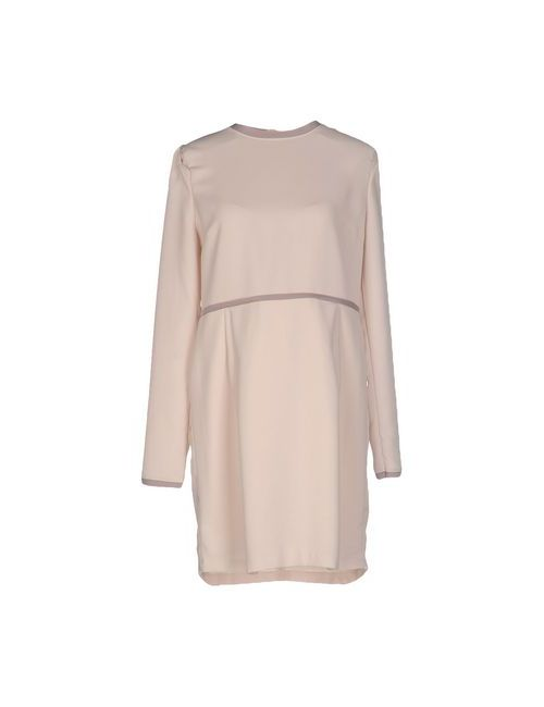 Bonsui | Женское Бежевое Короткое Платье