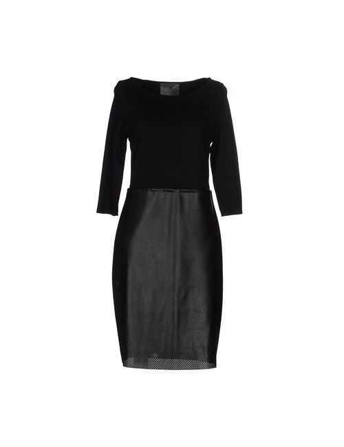 Es'Givien | Женское Чёрное Платье До Колена