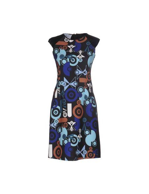 MIA SULIMAN | Женское Чёрное Короткое Платье