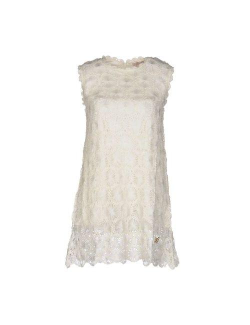 Atelier Fixdesign | Женское Слоновая Костящее Короткое Платье