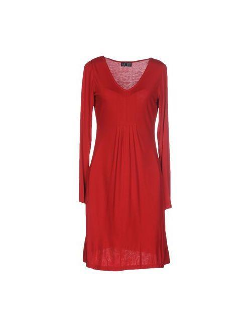 ARMANI JEANS | Женское Красное Короткое Платье