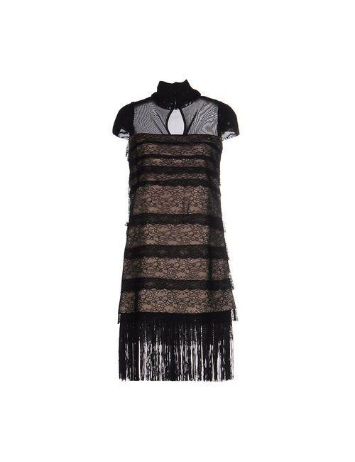 Mangano | Женское Чёрное Короткое Платье
