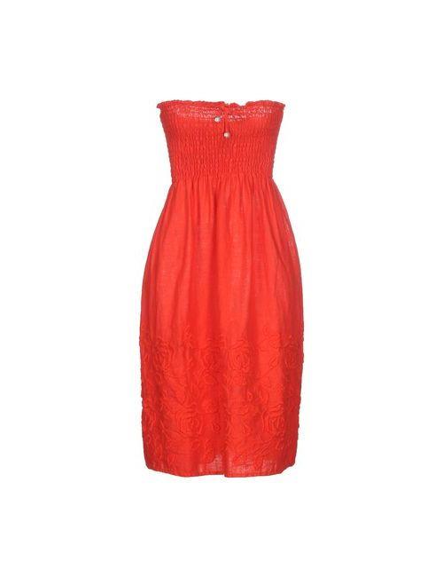 La Fabbrica Del Lino | Женское Красное Короткое Платье