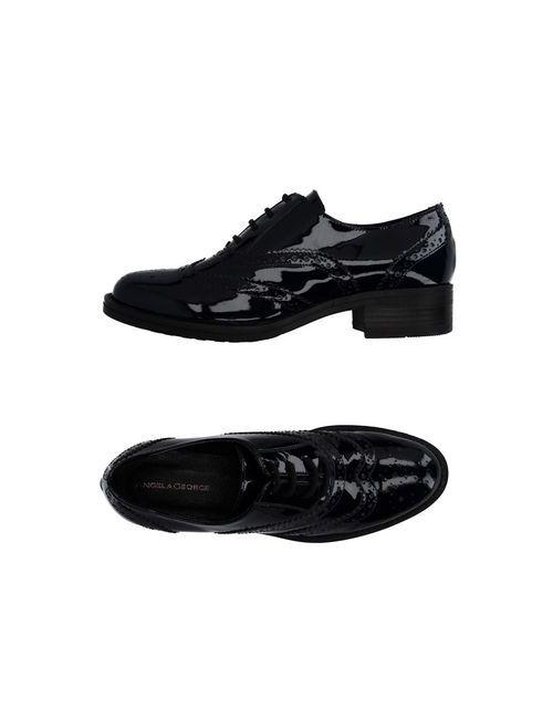 ANGELA GEORGE | Мужская Синяя Обувь На Шнурках