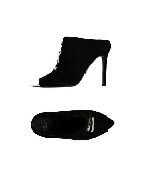 Versace | Женские Чёрные Сандалии