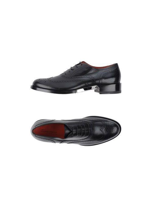 Santoni | Мужская Черный Обувь На Шнурках