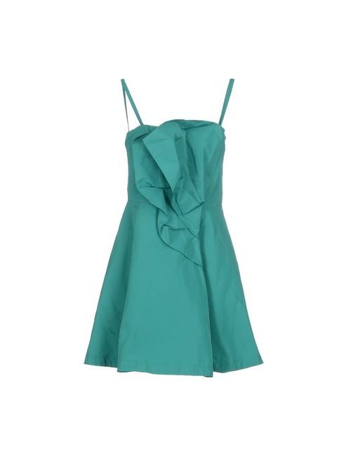 Pinko Black | Женское Зелёное Короткое Платье