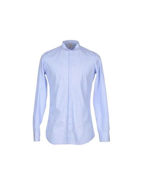 Aglini   Мужская Голуба Pубашка