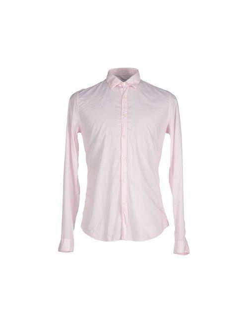 Robert Friedman | Мужская Розовая Pубашка