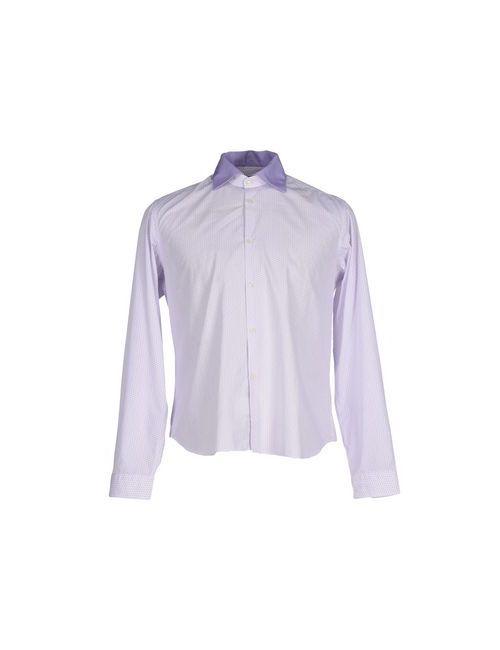 Manuel Ritz | Мужская Фиолетовая Pубашка