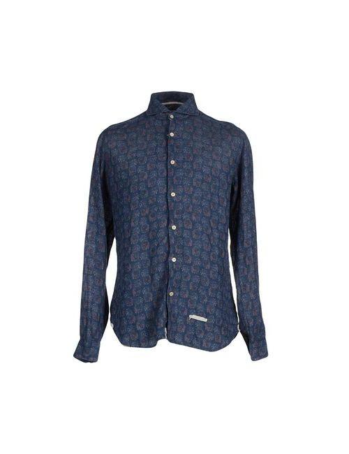 Tintoria Mattei 954 | Мужская Синяя Pубашка