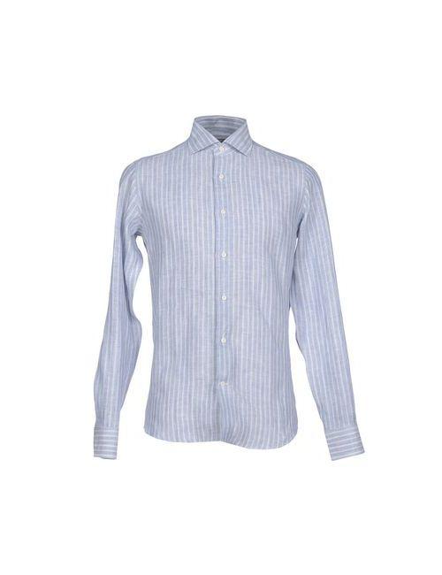 Paoloni   Мужская Синяя Pубашка