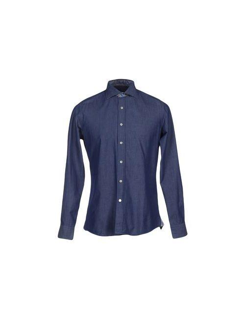 Ingram | Мужская Синяя Pубашка
