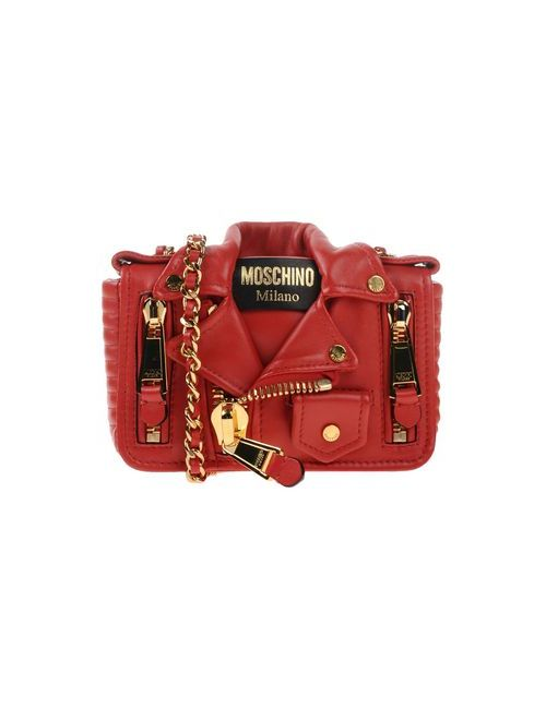 Moschino | Женская Красная Сумка Через Плечо