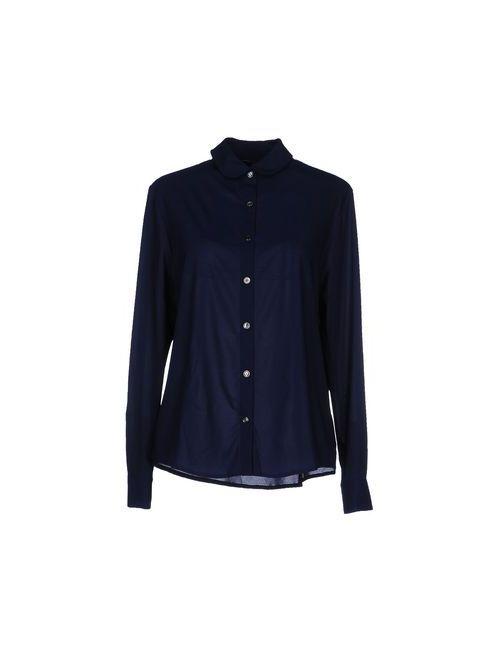 Maison Kitsune   Мужская Синяя Pубашка