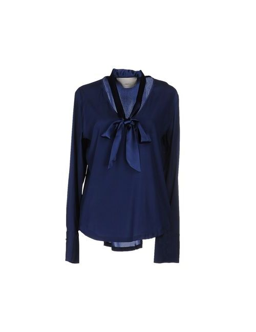 ..,Merci | Женская Синяя Блузка