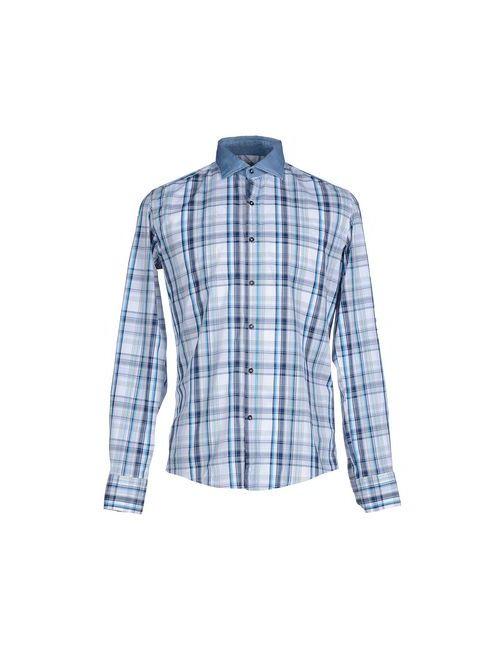 Liu •Jo Jeans | Мужская Голуба Pубашка