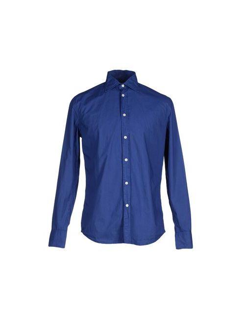 Deperlu | Мужская Синяя Pубашка