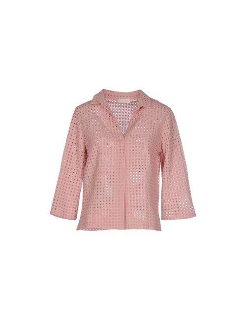 Club Voltaire | Мужская Розовая Pубашка