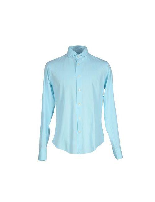 Brian Dales | Мужская Голуба Pубашка