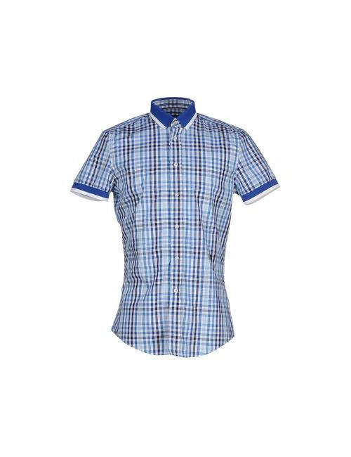 Bikkembergs | Мужская Синяя Pубашка