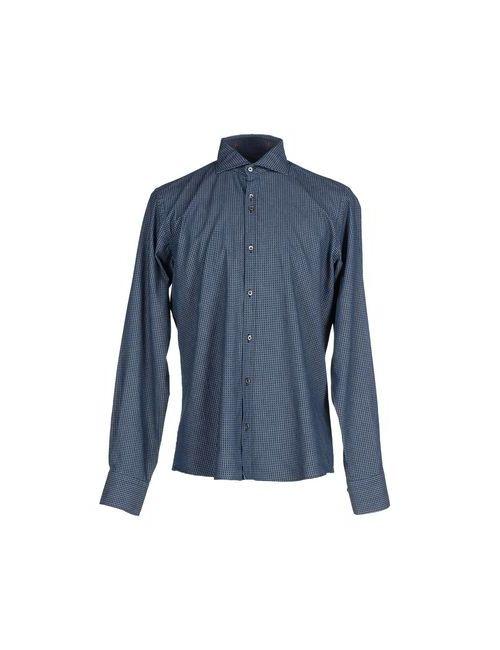 DU4 | Мужская Синяя Pубашка
