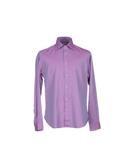 Brian Dales | Мужская Фиолетовая Pубашка