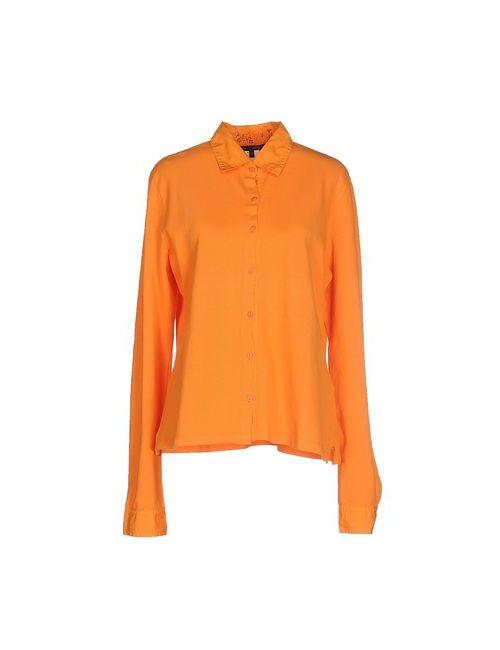 Jeans Les Copains   Мужская Оранжевая Pубашка