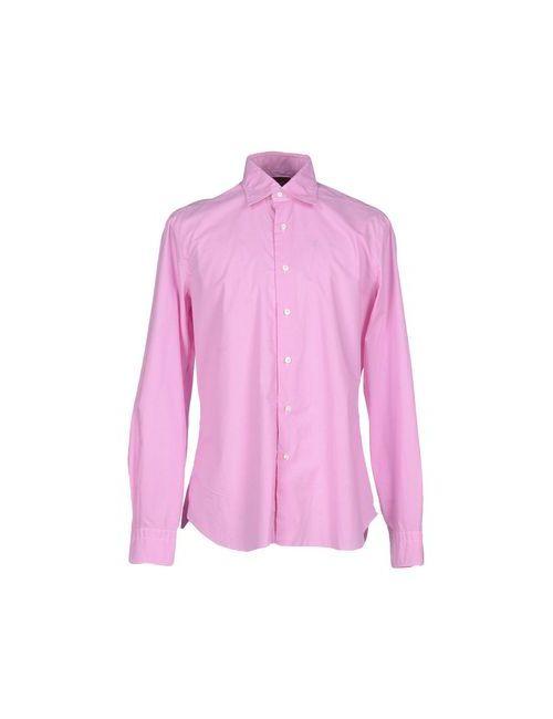 Barba   Мужская Розовая Pубашка