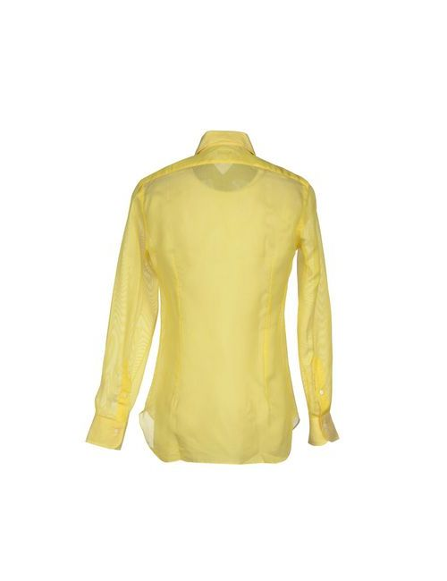 Barba | Мужская Жёлтая Pубашка