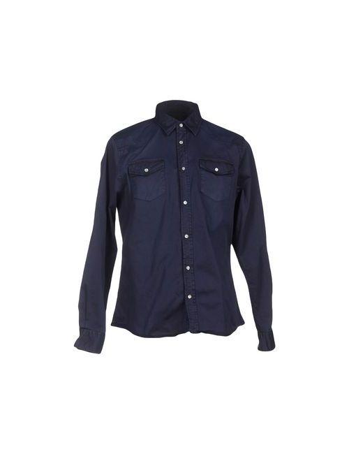 Individual   Мужская Синяя Pубашка