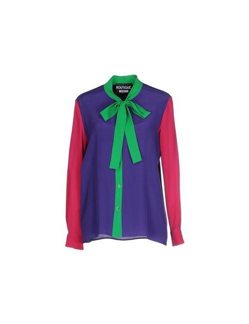 BOUTIQUE MOSCHINO | Мужская Фиолетовая Pубашка
