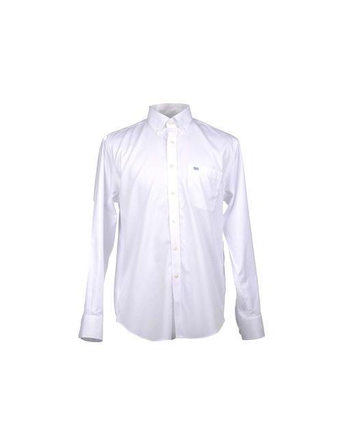 Pedro Del Hierro | Мужская Белая Рубашка С Длинными Рукавами