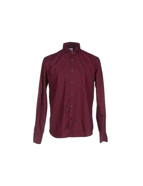 1 BY XACUS | Мужская Коричневая Pубашка