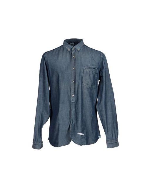 DNL | Мужская Синяя Pубашка