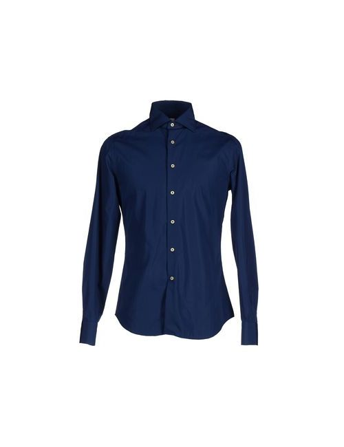 CIT LUXURY | Мужская Синяя Pубашка