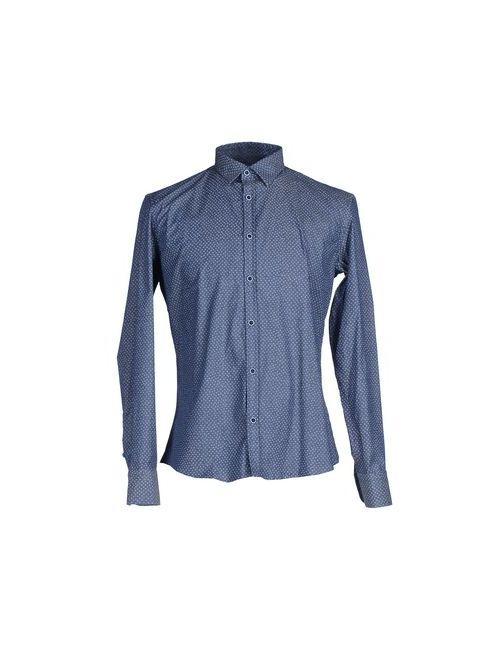 GAUTIERI | Мужская Синяя Pубашка