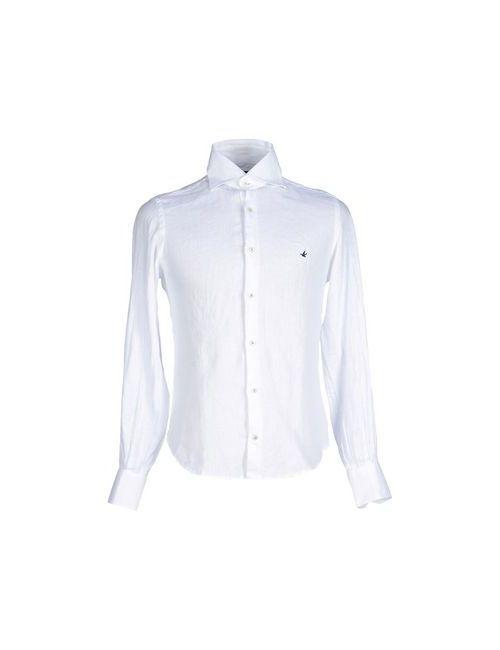 Brooksfield | Мужская Белая Pубашка