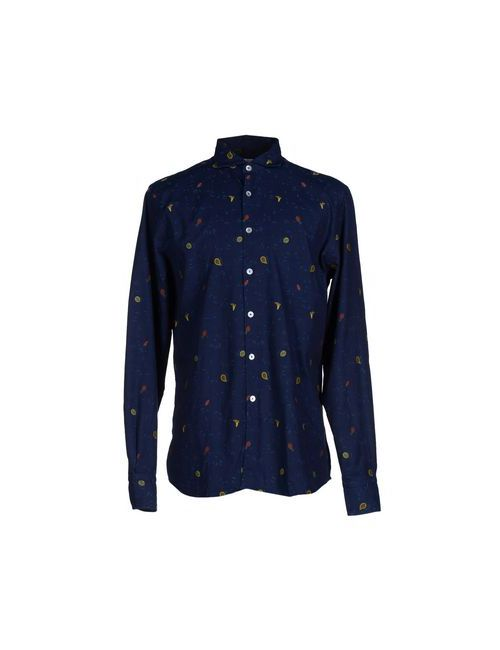 Dickson | Мужская Синяя Pубашка