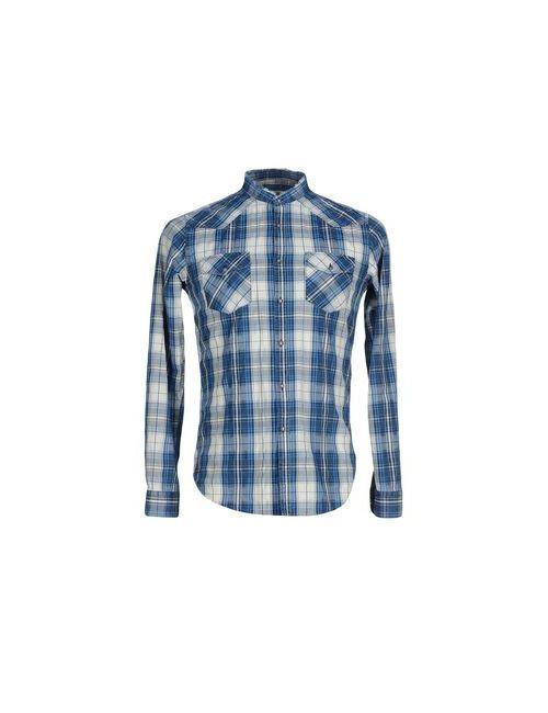 N° 4 Four | Мужская Синяя Pубашка