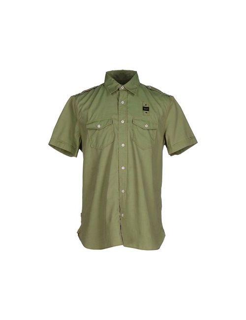 Blauer | Мужская Зелёная Pубашка